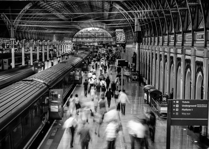Paddington - rush hour (B&W)