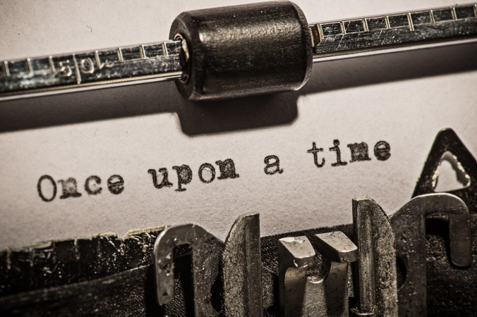 Once-upon-a-time-old-vintage-typewriter