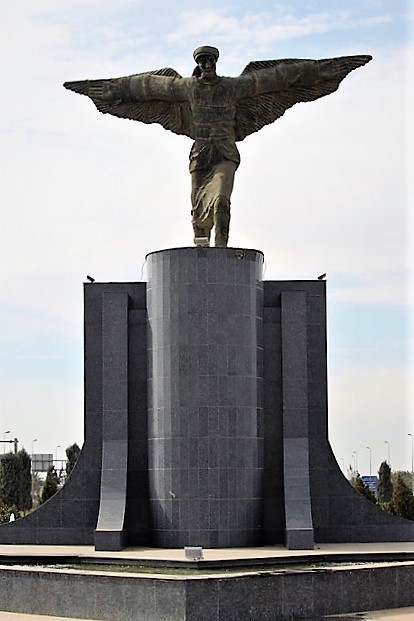 A. Tousley (2019) Flying Man Pic (I took this picture of the Flying Man Statue outside Baghdad International Airport)