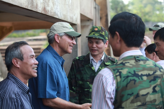 D. Hansen (2012) Vietnam Pic (Dave Hansen greets Veterans of the Vietnamese Army at Khe Sanh) (1)